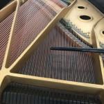 夏休みの学校ピアノ弦交換