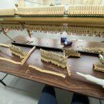アップライトピアノ アクション修理